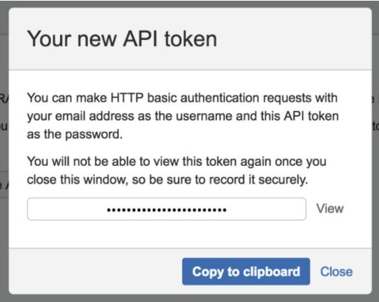 Create API Token